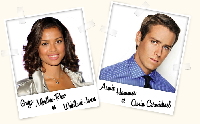 Gugu Mbatha-Raw as Wehilani Jones and Armie Hammer as Owrin Carmichael